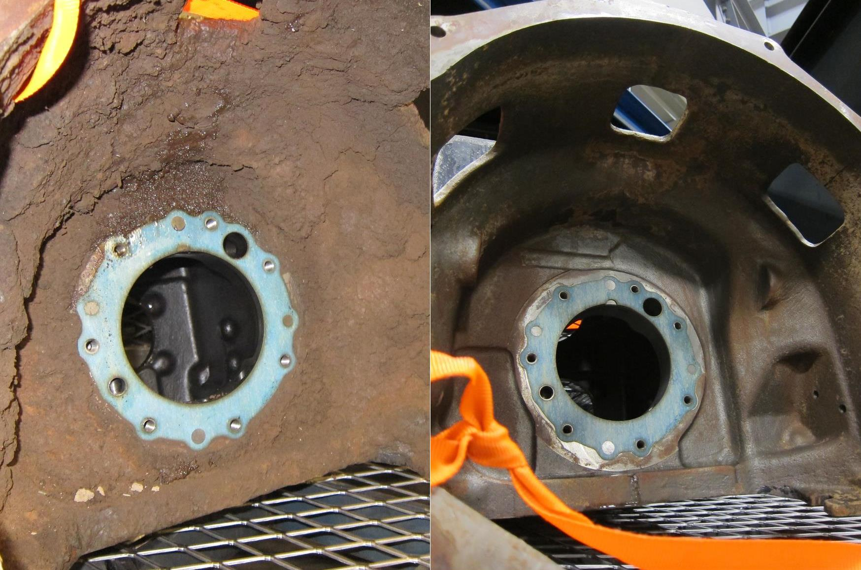 StingRay Heavy Duty Parts Washer Transmission Case Before and After