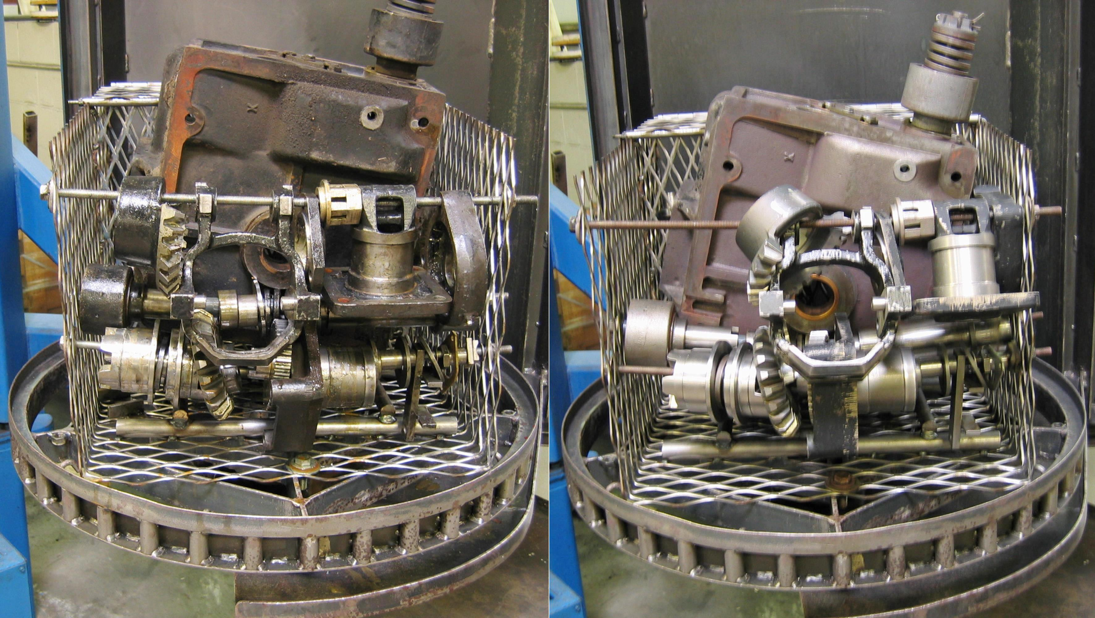 Batch Parts Washer Before and After