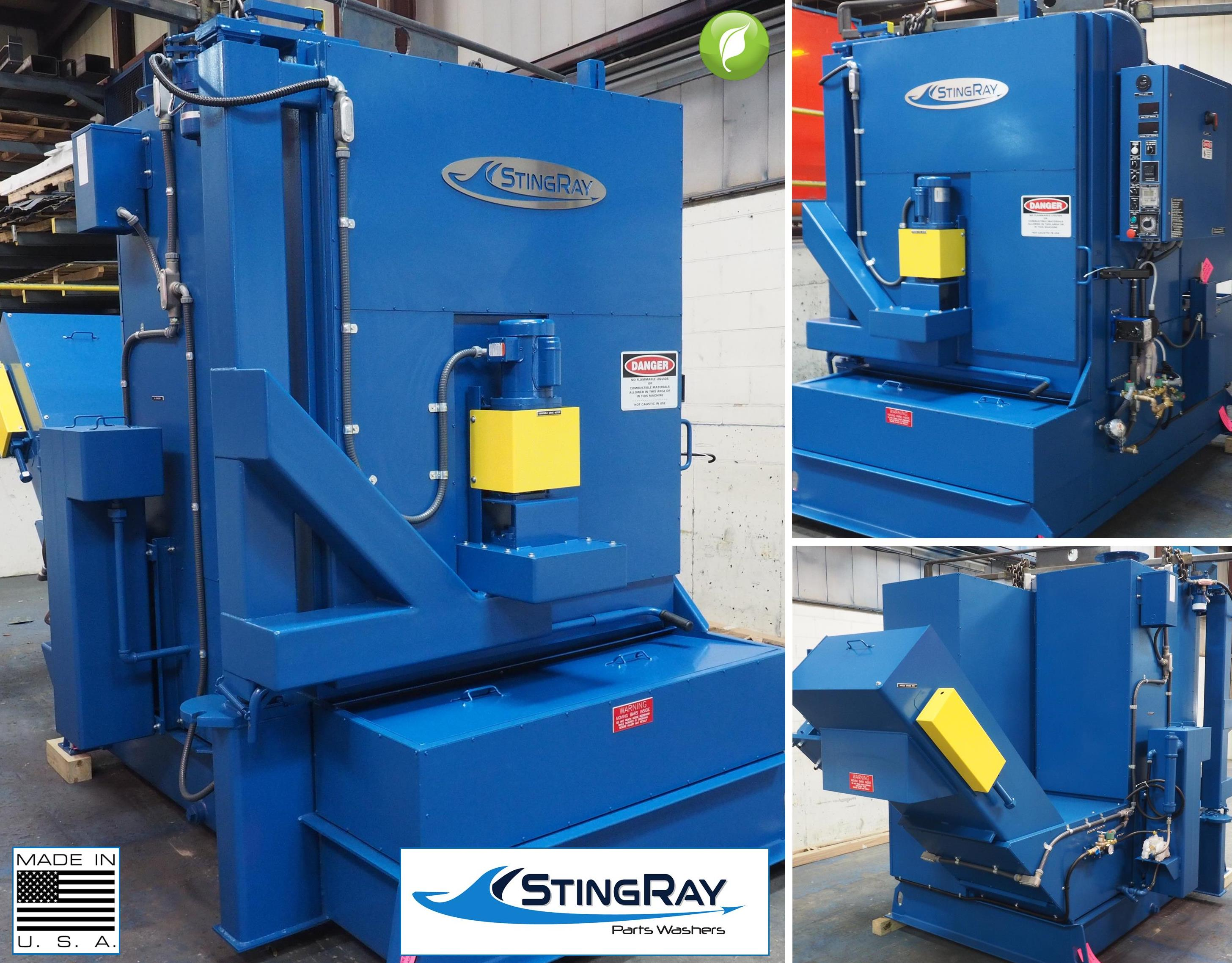 StingRay Industrial Parts Washer for Electric Motor Components