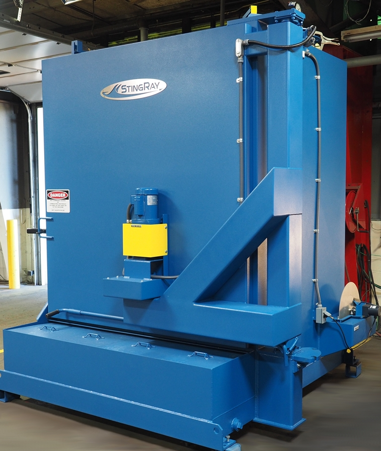 Industrial Parts Washer by StingRay for Electric Power Generation Engines
