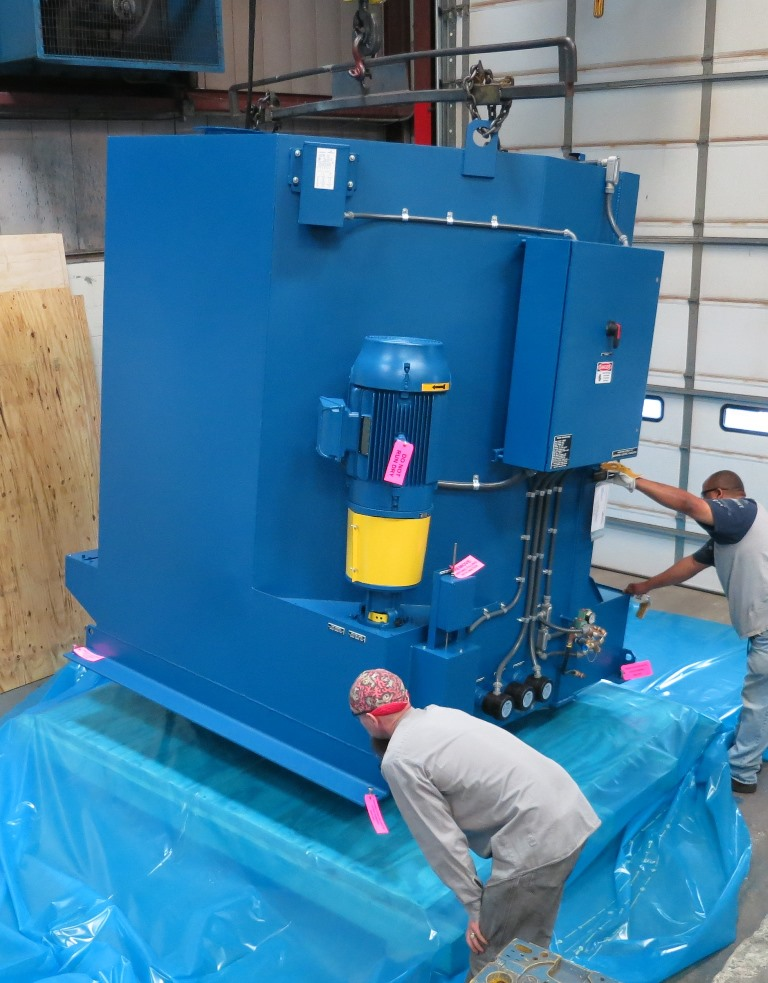 StingRay Industrial Parts Washer Shipping Preparation