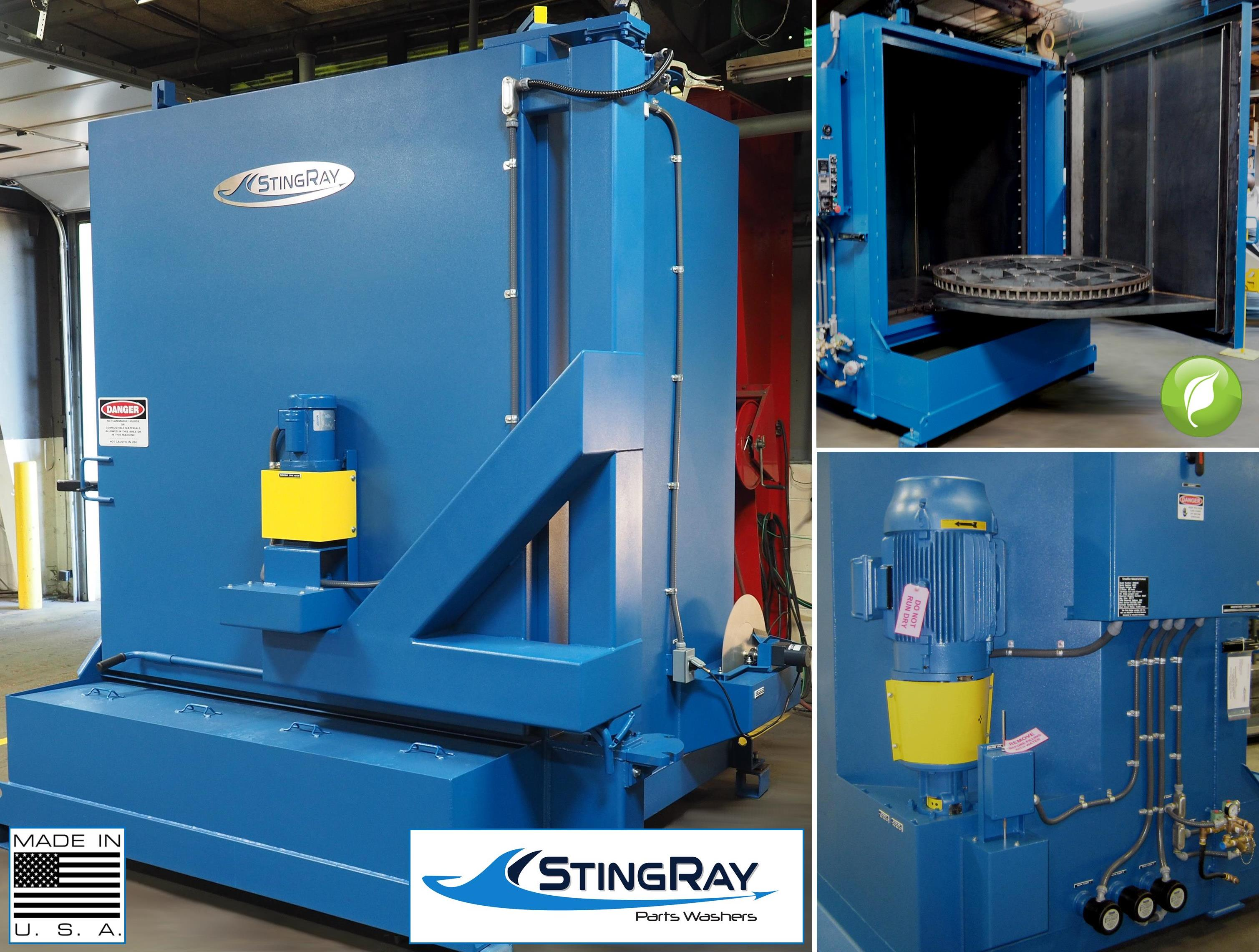 StingRay Heavy Duty Industrial Parts Washer for Electric Power Generator Engines and Components