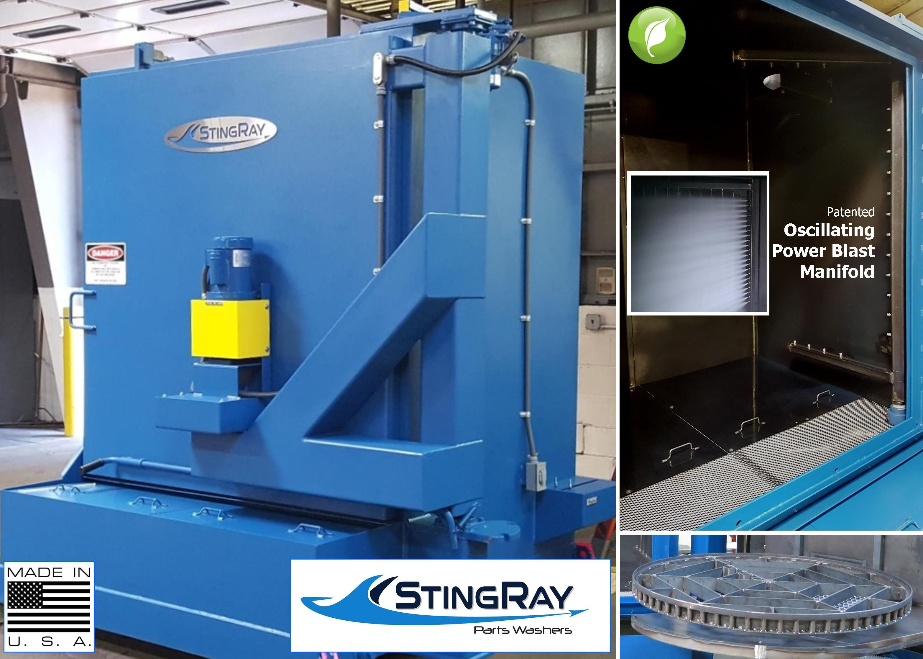 StingRay Industrial Parts Washer for Engine Components Cleaning