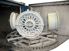 Aircraft Wheel Washer Four Station Wheel Fixture