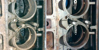 Diesel Engine Cleaning Before and After