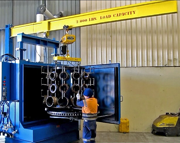 Using-StingRay-jib-crane-to-load-parts-washer