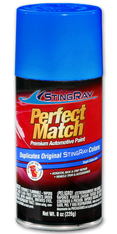 StingRay parts washer blue touch-up paint
