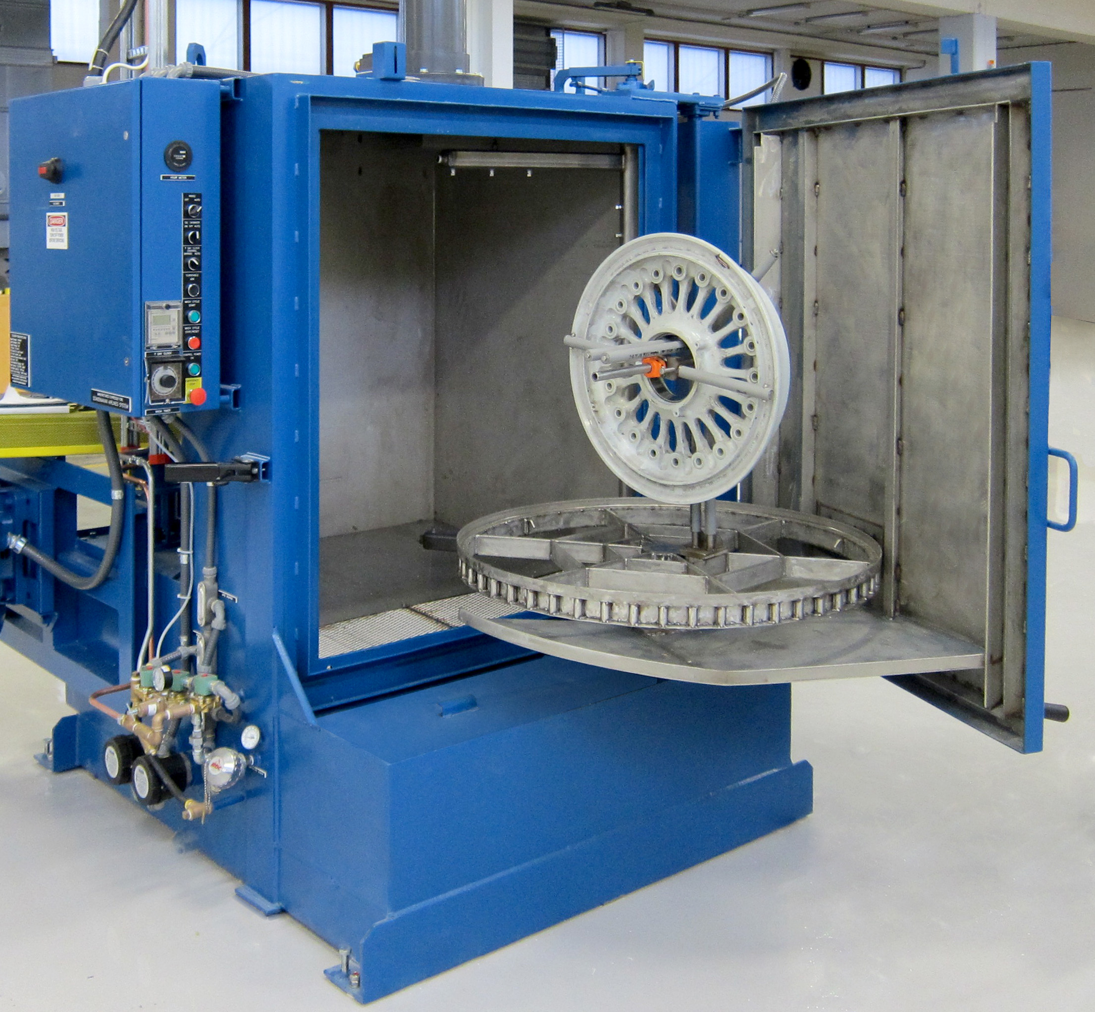 Aircraft Wheel Cleaning Result Washer