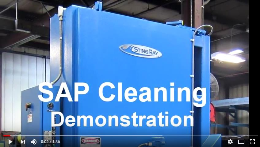 Sap Cleaning in a StingRay Industrial Parts Washer