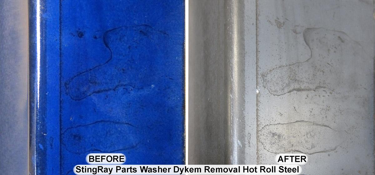 Stingray Parts Washer Dykem Removal