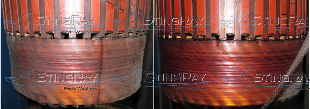 StingRay Electric Motor Armature Cleaning Results