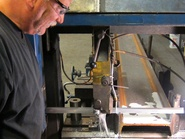 Bill sawing I-beam for large parts washer